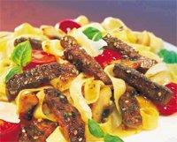 Prøv også Krydrede biffstrimler med pasta.