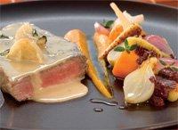 Posjert Mørbradbiff med olivenoljebakte grønnsaker, gresskarpurè, italienske gnocchi oppskrift.