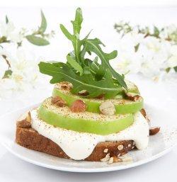 Prøv også Epleskiver med vaniljeyoghurt.
