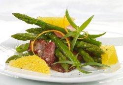 Baconstekt asparges oppskrift.