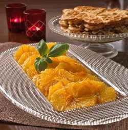 Karamellisert appelsin oppskrift.