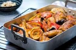 Prøv også Bakt kylling med chorizo, sitron og oliven.