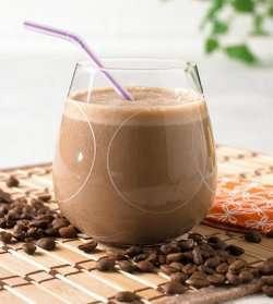 Kaffe smoothie oppskrift.
