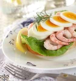Prøv også Dansk smørbrød med egg og reker.