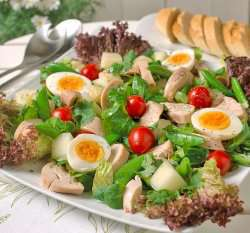 Prøv også Fruktig egg og kyllingsalat.