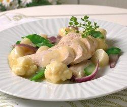 Prøv også Kyllingfilet med stuede sommergrønnsaker.