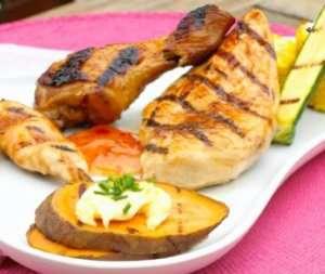 Prøv også BBQ kylling med grillet søtpotet.