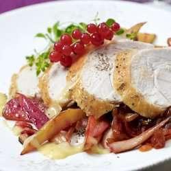 Prøv også Helstekt Kalkunfilet med rødløksmarmelade.