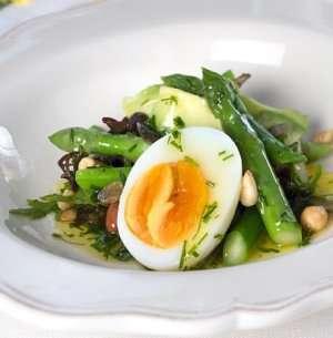 Asparges med smilende egg oppskrift.