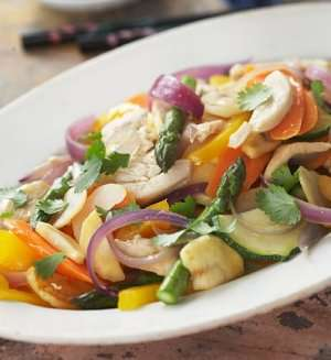Prøv også Grillet kylling med wokgrønnsaker i sursøt saus.