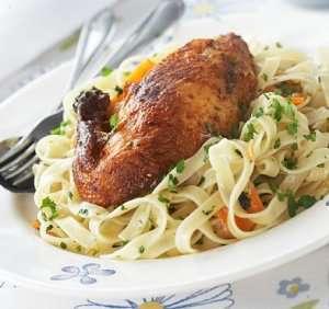 Prøv også Grillet kylling med persillepasta.