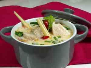 Pr�v ogs� Thailandsk kyllingsuppe(Tom Ka Gai).
