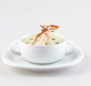 Prøv også Kremet kyllingsuppe med ramsløk.
