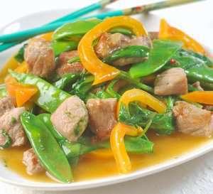 Prøv også Svinewok med sur søt saus.