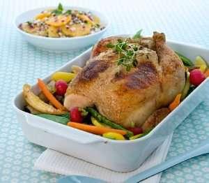 Prøv også Helstekt kylling med urter og mascarpone.