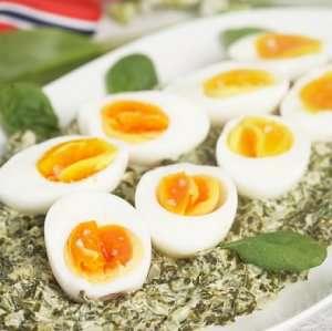 Prøv også Kokte egg med spinat.