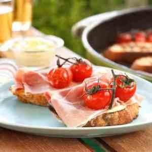 Prøv også Grillet bruschetta med spekeskinke.