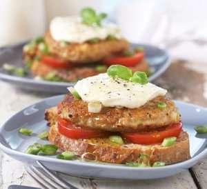 Prøv også Kyllingkarbonade med tomat og mozzarella.