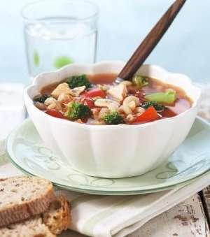 Prøv også Kyllingsuppe med pasta og brokkoli.