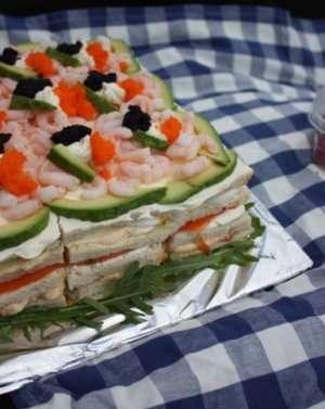 Prøv også Møllerens sandwichkake med sjømat.