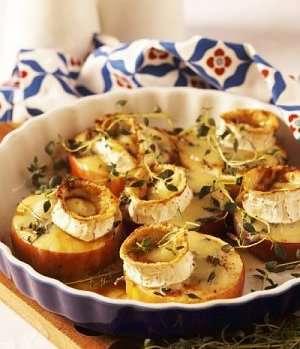 Prøv også Chevré på epleskiver med timian.