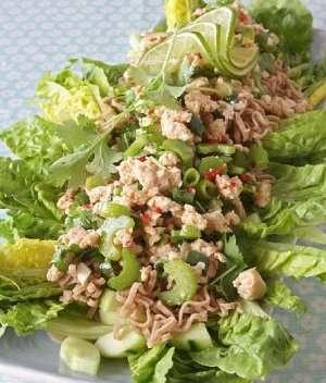 Prøv også Hot kyllingkjøttdeig i salat med lime og koriander.