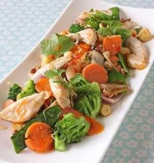 Prøv også Kylling- og grønnsakwok med hjemmelagd saus.