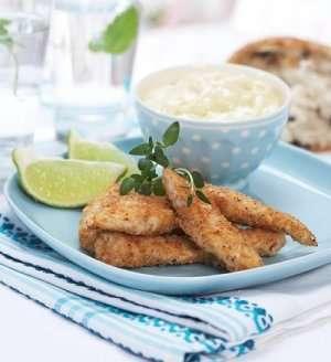 Prøv også Kyllingfingers med hvitløksmajones og sitron.