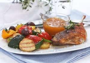 Les mer om Kyllingl�r med stekte gr�nnsaker hos oss.