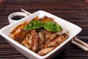 Prøv også Svinewok med spreke grønnsaker.