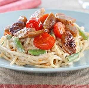 Prøv også Kremet spagetti med medisterpølse.