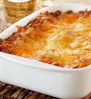 Pr�v ogs� Tikka lasagne.