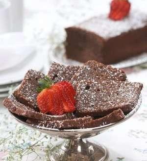 Rask sjokoladekake oppskrift.