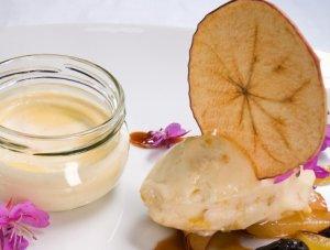 Prøv også Fløterand med urter, plomme- og kvedesorbet og tørkede epleskiver..