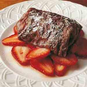 Prøv også Fylte sjokoladepannekaker med marinerte jordbær.