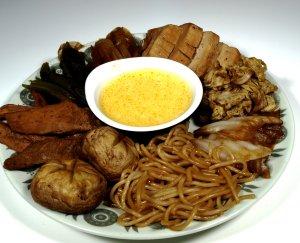 Prøv også Sukiyaki.