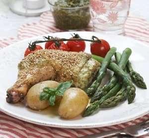 Kyllinglår med mascarpone og pesto oppskrift.