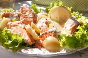 Prøv også Laks og potetsalat med sursøt rømmedressing.