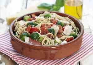 Prøv også Pasta med rosenkål, cherrytomat og chorizo.