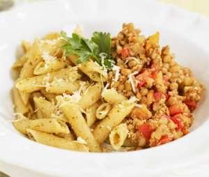 Quorn deig med linser og pesto pasta oppskrift.