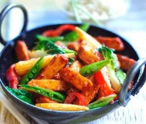 Sweet and Sour Quorn wok oppskrift.