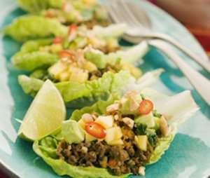 Prøv også Asiatisk Quorn deig i salatblad.