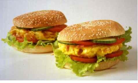 Prøv også Omelett-burger.