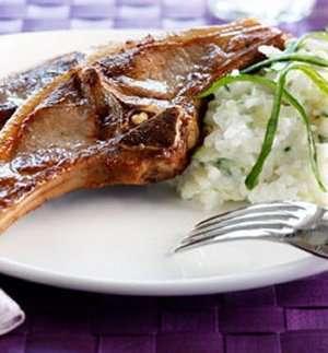 Prøv også Lammekoteletter med tzatzikirisotto.