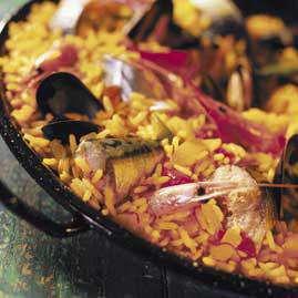 Prøv også Paella med makrell.