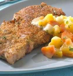 Prøv også Panerte koteletter med stuede grønnsaker.