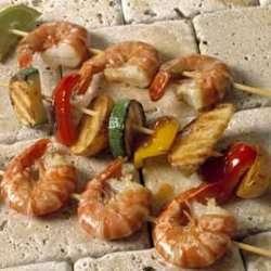 Prøv også Limegrillede reker/scampi med grønnsakespyd.