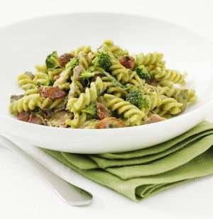Prøv også Fusilli Verde, Fusilli med broccolisaus, kylling og bacon.