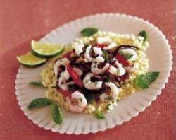 Prøv også Marinerte reker med couscous og grillede grønnsake.