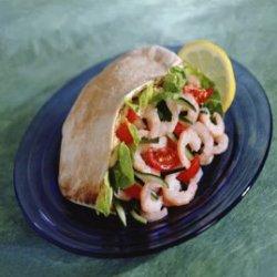Prøv også Reker med humus og salat i pitabrød.